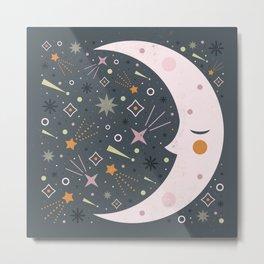Mr Moon Metal Print