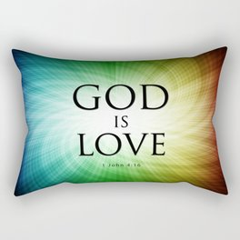 God is Love - Bible Lock Screens Rectangular Pillow