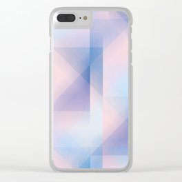 colour & shape Clear iPhone Case