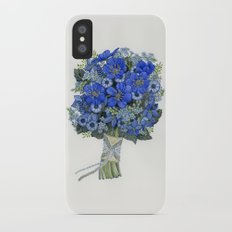 Blue Bouquet iPhone X Slim Case