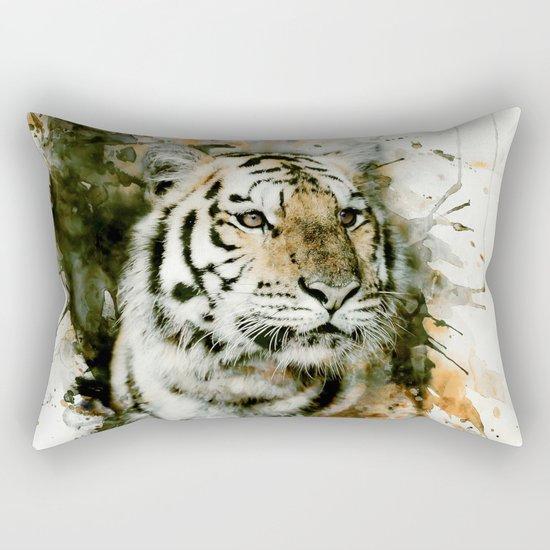 Tiger Splash Rectangular Pillow
