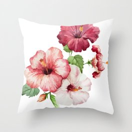 Beauty Flowers Painting Throw Pillow