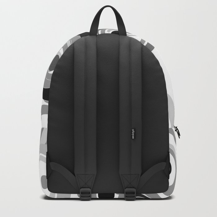 Abstract black white gray polka dot pattern 2 Backpack