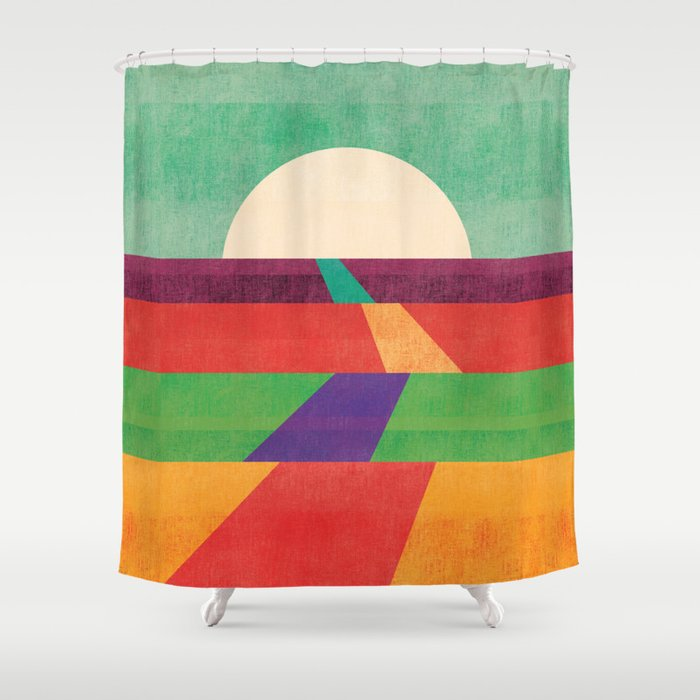 The path leads to forever Shower Curtain
