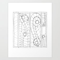 Original Sketch Series - Erosion Patterning Art Print