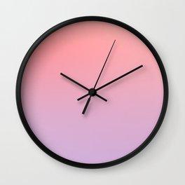 PRINCESS CANDY - Minimal Plain Soft Mood Color Blend Prints Wall Clock