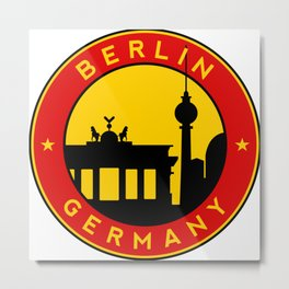 Berlin, circle, sticker Metal Print