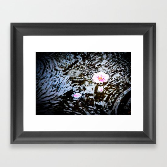 Cherry Blossoms on the Water Framed Art Print