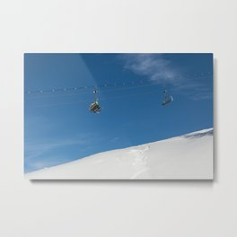 Chairlift Exchange Metal Print