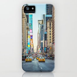 Sunset on 7th Avenue iPhone Case