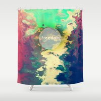 freedom Shower Curtains featuring FREEDOM by sametsevincer