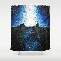 interstellar Shower Curtains featuring Interstellar by LucioL