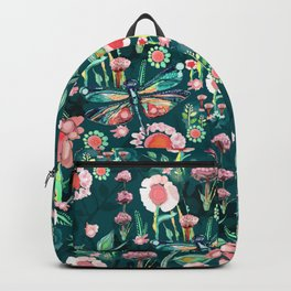 Botanical Dragonfly Garden Backpack