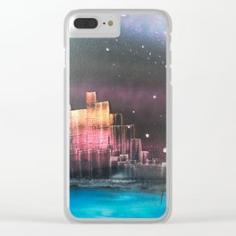 city night Clear iPhone Case