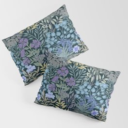 Watercolor Jungle with surreal lush foliage and Flowers Tropical Pillow Sham