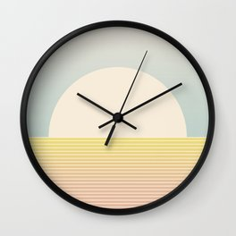 Sunrise / Sunset Abstract Gradient I Wall Clock