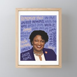 Stacey Abrams. Framed Mini Art Print
