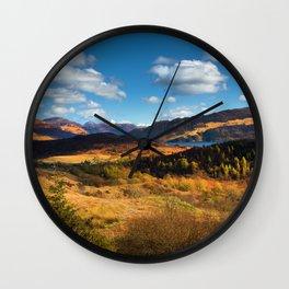 Highland view. Wall Clock