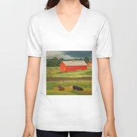 farm V-neck T-shirts featuring Farm by ArtSchool