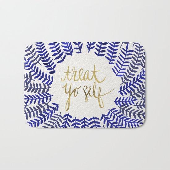 Treat Yo Self – Gold & Navy Bath Mat