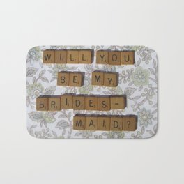 Scrabble Tiles - Will you be my Bridesmaid? Bath Mat