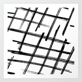 Criss Cross B+W Print Art Print