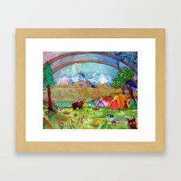 'Whoa!, A Double Rainbow (What does it mean?)' Framed Art Print
