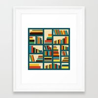 library Framed Art Prints featuring library by vitamin