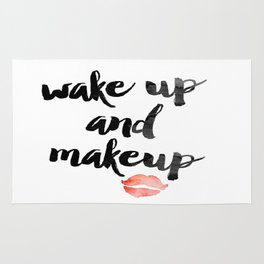 Wake Up and Makeup Rug