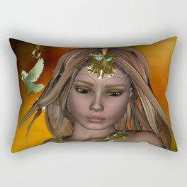 Beautiful fantasy women Rectangular Pillow