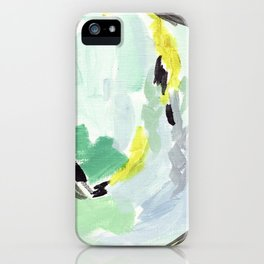 Twirl Green: Abstract Painting iPhone Case