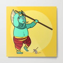Ganesha Staff-Master Metal Print