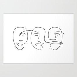 Line Carnival Art Print