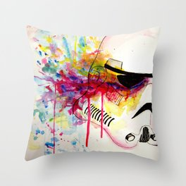 Watercolor Stormtrooper Throw Pillow