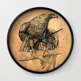 Falcon illustration Wall Clock