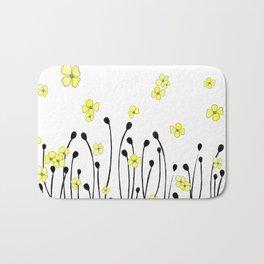 Yellow Wildflower Bath Mat