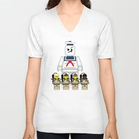 ghostbusters V-neck T-shirts featuring Ghostbusters  by AWOwens