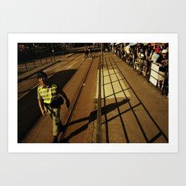hong kong police Art Print