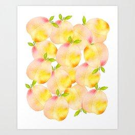 Millions of Peaches Art Print
