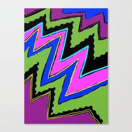 Zippy Zig Zags Canvas Print