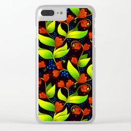 A Floral Waltz Clear iPhone Case