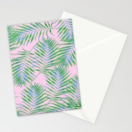 Fern Leaves Pink Stationery Cards