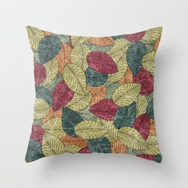 Let the Leaves Fall #04 Throw Pillow