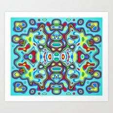 Symmetric composition 3 Art Print
