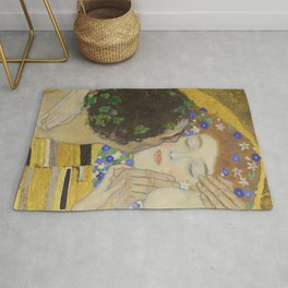 The Kiss - Closeup - Gustav Klimt Rug