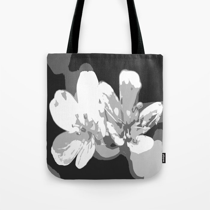 Retro Flowers in Black and White #decor #society6 Tote Bag