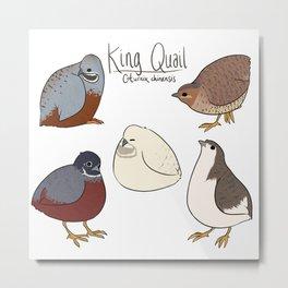 King Quail Metal Print