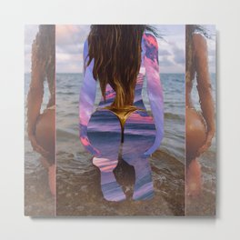 Beach Booty Metal Print