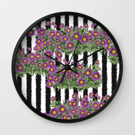 Aster - Birth Month Flower for September Wall Clock