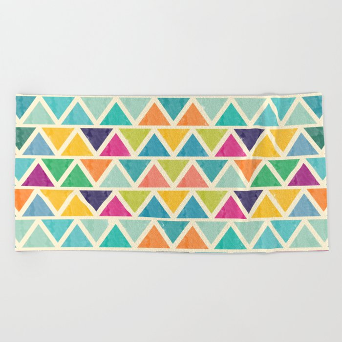 Lovely geometric Pattern II Beach Towel